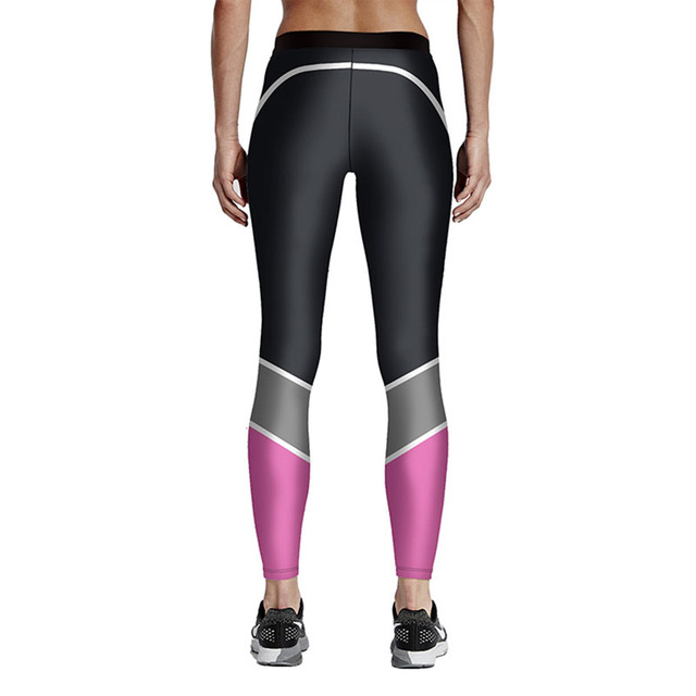 High-Quality Gradient Printed Women Fitness Leggings