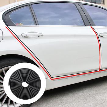 5m osłona krawędzi drzwi samochodu gumowa ochrona zderzaka pasek dekoracyjny dla Hyundai Elantra Tucson Sonata IX35 IX45 Verna Elantra tanie i dobre opinie RUBBER
