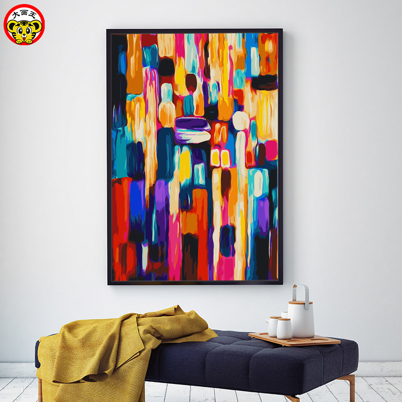 painting by numbers art paint by number DIY color abstract ...