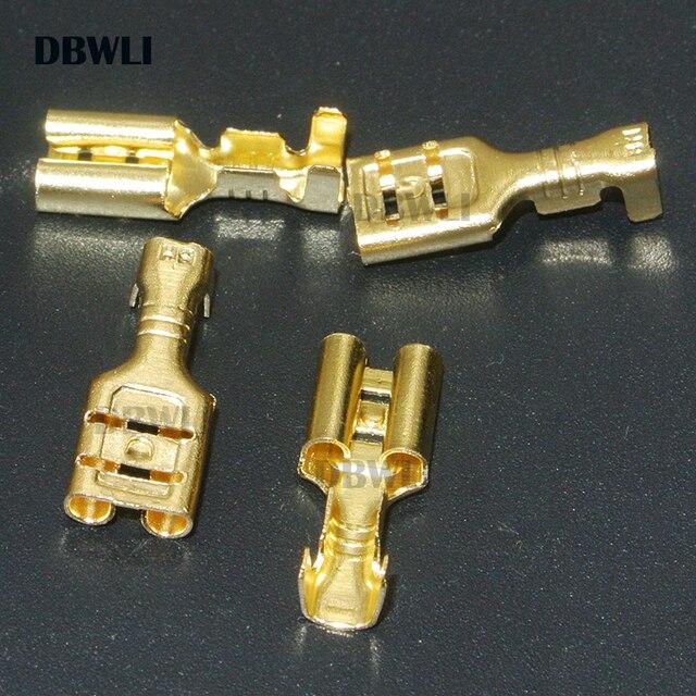200 sztuk/100Pairs 2.8mm 4.8mm 6.3mm kobieta Spade zaciski elektryczne drut tulejowy Wrap złącze dla 22-16 AWG 0.5mm2-1.5mm2