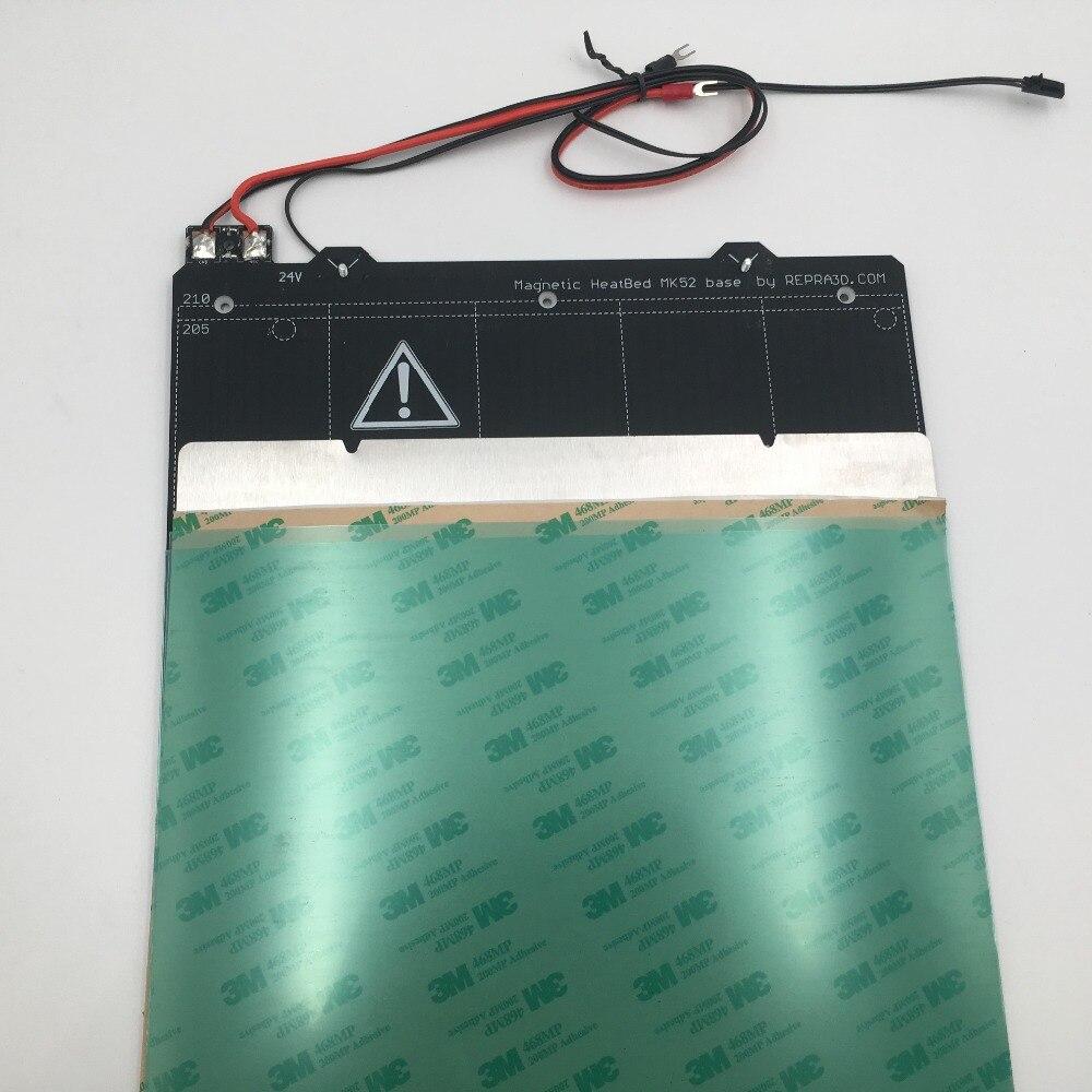Cloné Prusa i3 MK3 3d imprimante Magnétique MK52 Heatbed 24 v l'assemblée, avec tôle d'acier et 2 pcs PEI feuille