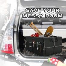 Черный Складной автомобильный дорожный Органайзер Cargo портативный инструменты складной сумка для хранения Чехол Экономия пространства Авто загрузочный Органайзер