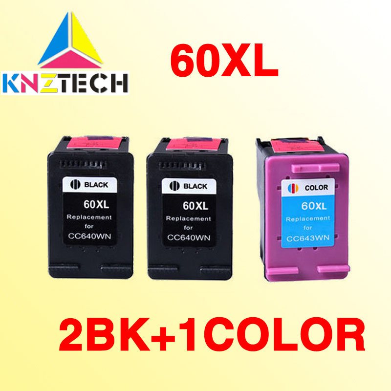 3PCS ink cartridges compatible for hp60 60XL Deskjet F4440 F4480 F4435 4500 F4580 5500 D5560 D110a
