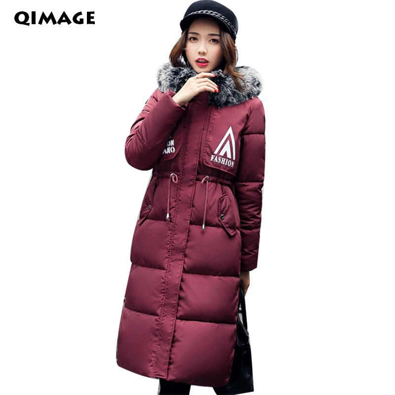 QIMAGE 2017 New winter jacket women winter coat women warm outwear Thick Padded cotton Jacket coat Womens Clothing High Quality qimage women winter jacket coat 2017 long thick padded cotton jacket female hooded warm down outwear silm parkas womens clothing