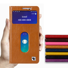 Hot!!! For Lenovo A8 A806 A808T High Quality Genuine Leather Smart Cover Case Window Luxury Flip Stand Mobile Phone Bag