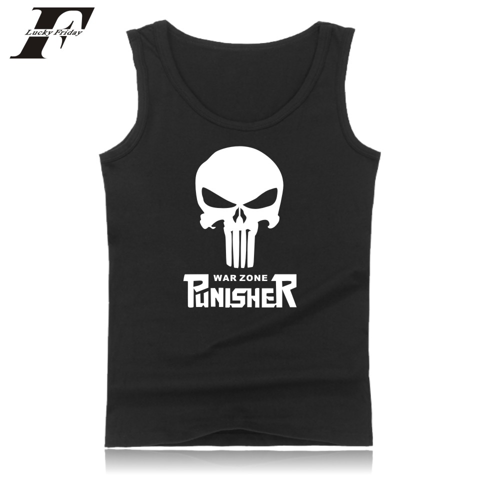 LUCKYFRIDAYF Punisher Skull Fashion Pattern Summer Sleeveless Vest For Man Simple Style Bodybuilding   Tank     Top   Men Clothing 4XL