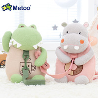 Metoo Plush Stuffed Animal Cartoon Bags Kids Doll Plush Backpack Toy Children Shoulder Bag For Kindergarten