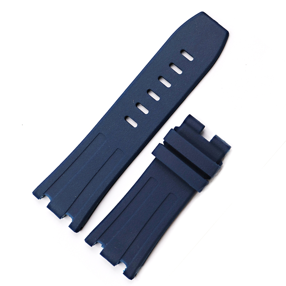 CARLYWET 28mm Wholesale Waterproof Silicone Rubber Replacement Wrist Watchband Strap Belt With Buckle For ROYAL OAK OFFSHORE in Watchbands from Watches