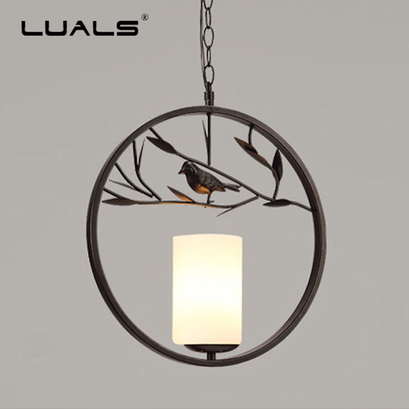 Nordic Hanging Light Iron Modern Pendant Lights Art Deco Suspension Luminaire Birdie LED Lamps Glass Lamp Shade Pendant Lighting nordic magic bean pendant lights glass lampshade g4 lustre led lamp art deco lamparas colgantes hanglamp suspension luminaire