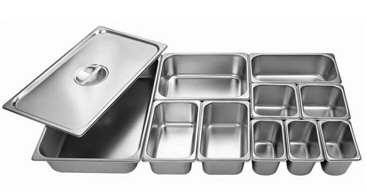Stainless Steel Pans Thick Buffet Plate Food Drive Basin Ice Cream Square S Gastronome Containers With Covers In Tureens From Home Garden On