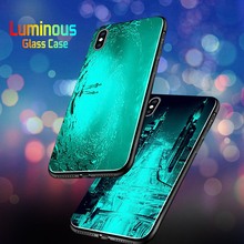 Luminous Phone Cases For Huawei P20 Mate 20 Lite Y6 Y7 Prime Y8 Y9 Night Shine Glass Case Honor 6X 7X 8X 7A Pro 9i 10 Cover