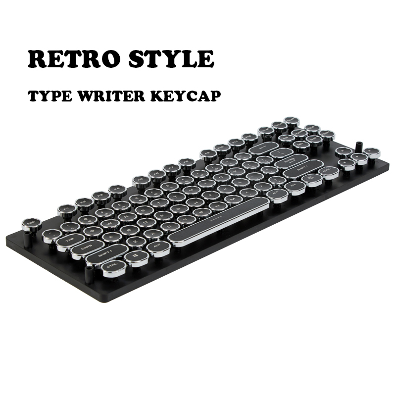 Prix pour 87/108 ABS Clés Rond Keycap Rétro Machine À Écrire Keycap Steampunk Rêveur Personnalité Keycap Pour Filaire USB Clavier Mécanique