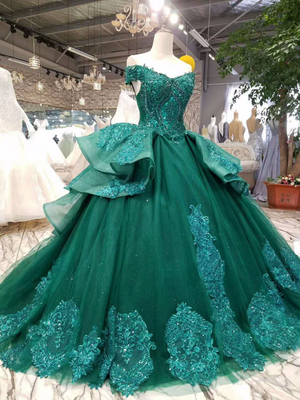 Aliexpress.com : Buy LSS006 vestidos de festa longo emerald evening ...