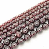 """Commercio all'ingrosso Rosso Granato Naturale 4,5, 6,7, 9,10mm Branelli Allentati Rotondi 15 """"/38 cm per filo, per Monili che fanno, può commercio all'ingrosso misto!"""