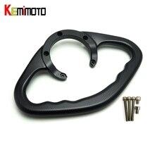 KEMiMOTO YZF R1 R6 FZ MT 09 Accessories CNC Passenger Handgrips Hand Grip Tank Grab Bar Handles Armrest For Yamaha MT-09 FZ-09
