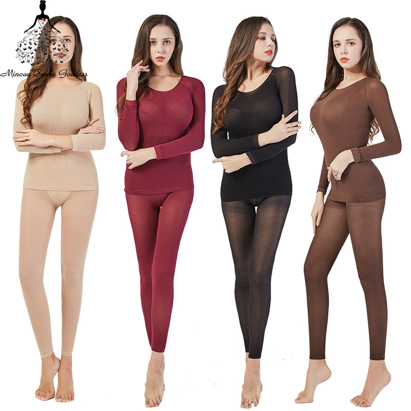 Warm Long Johns Thermal Underwear For Women/Men Sexy Seamless Winter Thermal Underwear Set Thermos Lingerie Intimates Women/Men