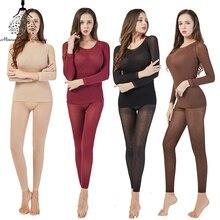 Warm Long Johns Thermal Underwear For Women/Men Sexy Seamles