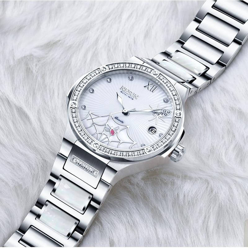 Switzerland Luxury Brand Watch Women NESUN Women's Watches Quartz Relogio Feminino Spider Clock Diamond Wristwatches N9910 2-in Women's Watches from Watches    1