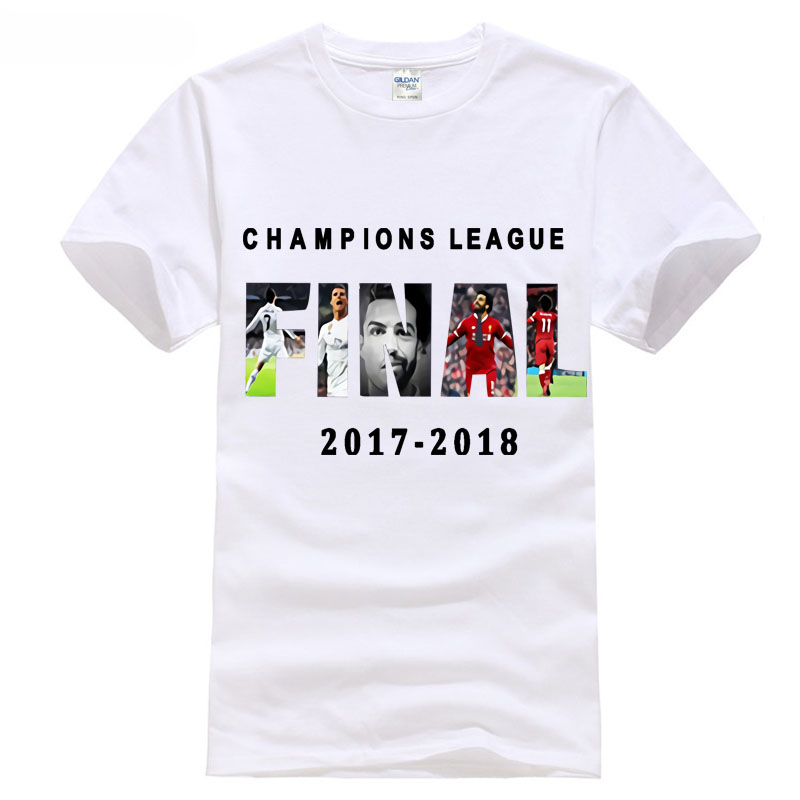2018 season europe champios league footballer Madrid and liverpool ronaldo 7 salah 11 t shirt tops