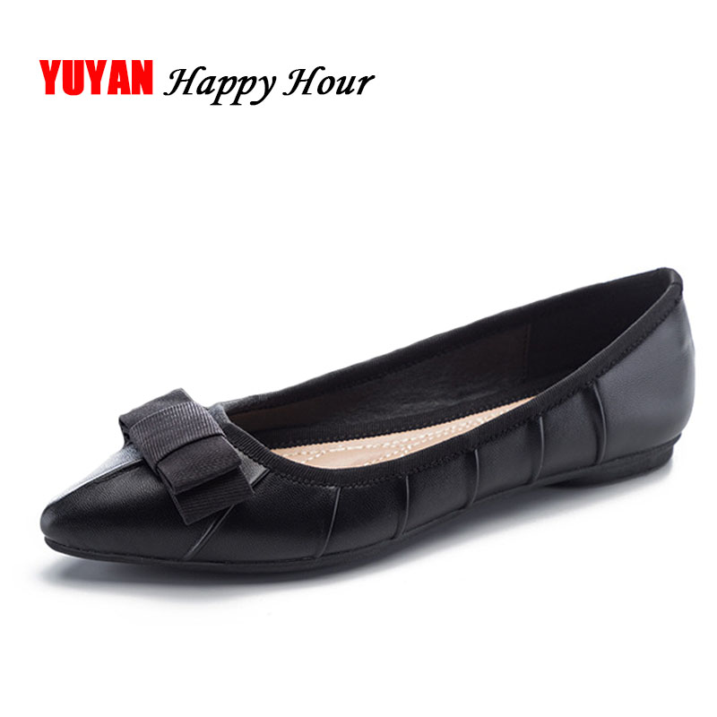Fashion Flats Shoes Women Pointed toe Boat Shoes Soft Comfortable Elegant Women's Flats Office Ladies Brand Shoes Plus Size J011 big size footwear woman flats shoes bling beads pointed toe boat shoes for women black solid fashion soft sole ladies shoe 43