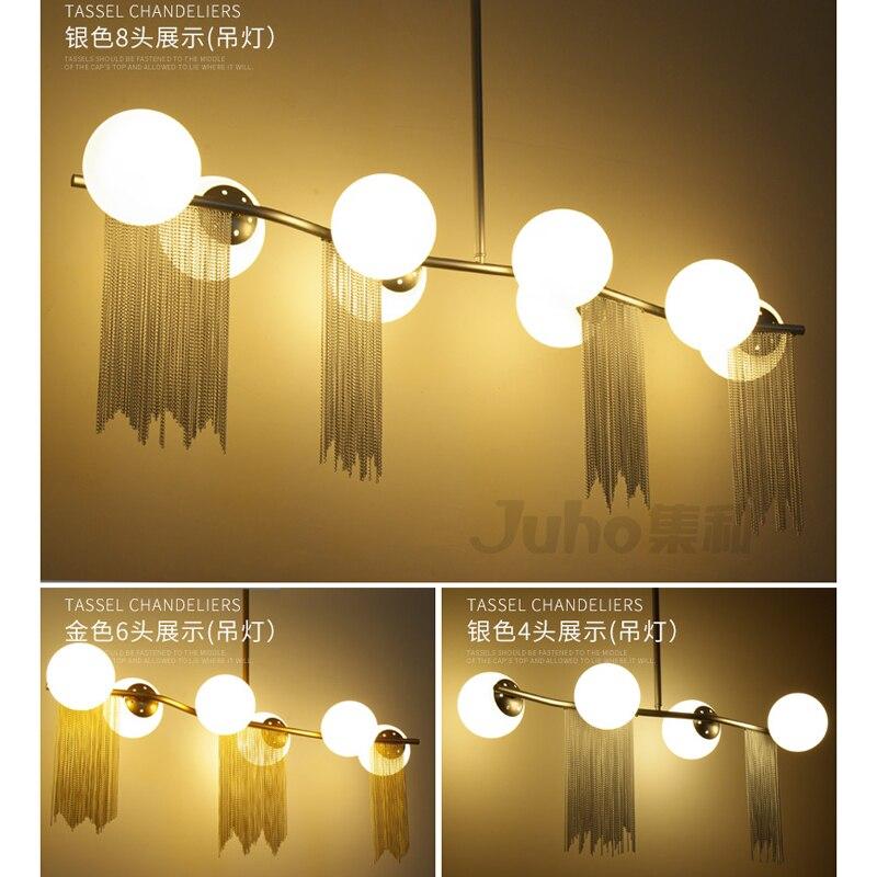 modern living room gold chandelier lights indoor lamp chandeliers hand blown glass lampshade Study room bedroom restaurant