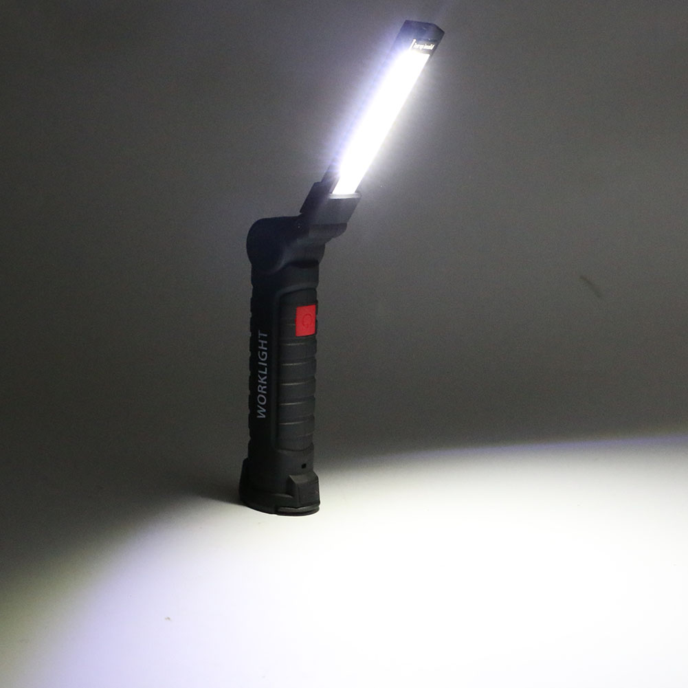 Stalwart Large 60 Led Rechargeable Work Light: Portable 5 Mode COB Flashlight Torch USB Rechargeable LED