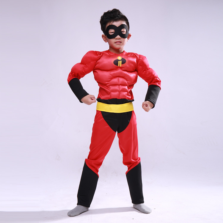 Boy The Incredibles costume Halloween Costume For Kids Role Play Party Cosplay Anime Toddler Clothing Set