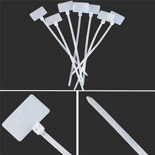 2,5*100 мм 100 шт. стяжки на молнии для записи на Ethernet RJ45 RJ12 провода кабель питания этикетки Метки нейлоновые кабельные стяжки