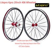 경량 litepro kpro 20 인치 wheelset 100/130/135mm 자전거 자전거 바퀴 접이식 자전거 bmx 부품