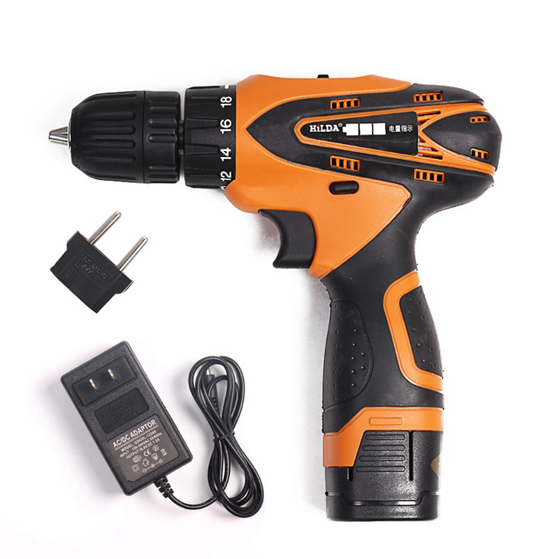 цена на 16.8V Cordless Screwdriver Multi-function Electric Drill Two-Speed Rechargeable Lithium Battery Power tools