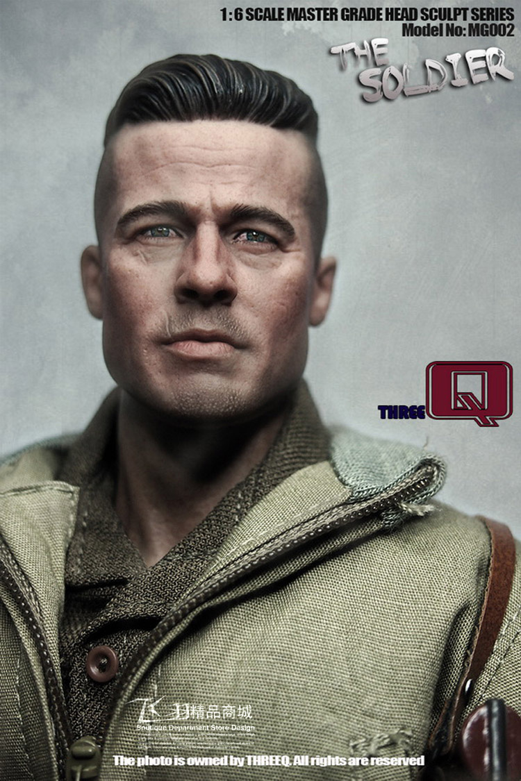 World War II American Tank Fury Brad Pitt 1/6 Soldier Head Sculp Model босоножки кожаные brad
