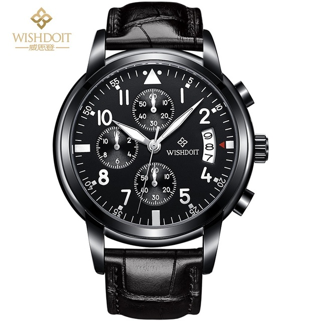 2017 Mens Watches WISHDOIT Brand Luxury Casual Military Quartz Sport Wrist Watch Leather Strap Male Clock Relogio Masculino Gift2017 Mens Watches WISHDOIT Brand Luxury Casual Military Quartz Sport Wrist Watch Leather Strap Male Clock Relogio Masculino Gift