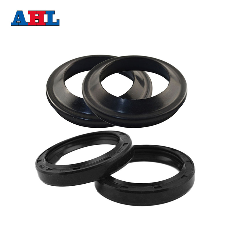Motorcycle <font><b>Parts</b></font> 41 53 Front Fork Damper Oil Seal & Dust Seals For SUZUKI GSF400 Bandit 1991-93 GSXR1100 GSXR750 DR650S <font><b>DR650</b></font> S image