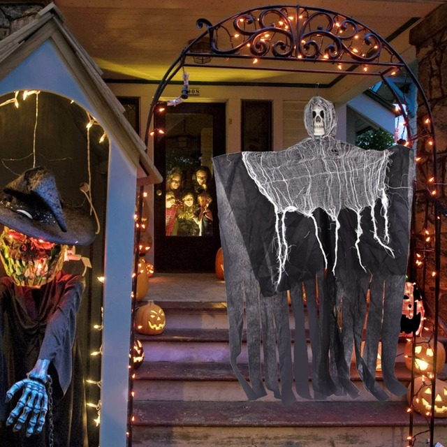 FENGRISE 90cm Skull Skeleton Halloween Decoration Pirate