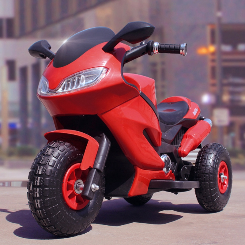 Children S Inflatable Tires Electric Motorcycle Baby