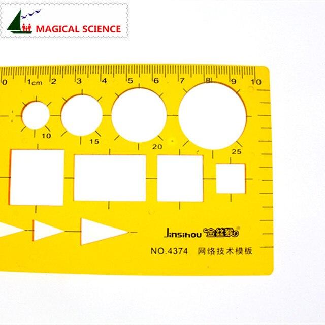 Règle de conception de modèle de technologie de réseau en plastique pour les étudiants outils de conception graphique Web Flexible JSH4374