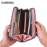 Women Wallet Geometric Wristband Female Long Zipper Women Purse Large Capacity Coin Wallet Purse Brand New