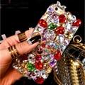 3d bling cristal diamante telefone case capa para samsung galaxy s5 s4 s3 S2 S3mini S4mini S5mini J1 J5 J7 A5 A7 A8 A9 Raposa Senhora case