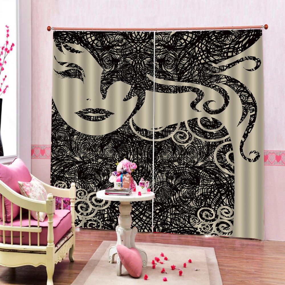 Abstract beauty Curtains Customize For Bedroom Living room Modern Blackout Curtains     Abstract beauty Curtains Customize For Bedroom Living room Modern Blackout Curtains