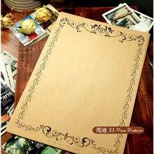 Novedad, 8 unids/set creativo, estilo europeo, Vintage, romántico, Papel Kraft con letras, papel de cultura Vintage Sobre papel de escritura 470