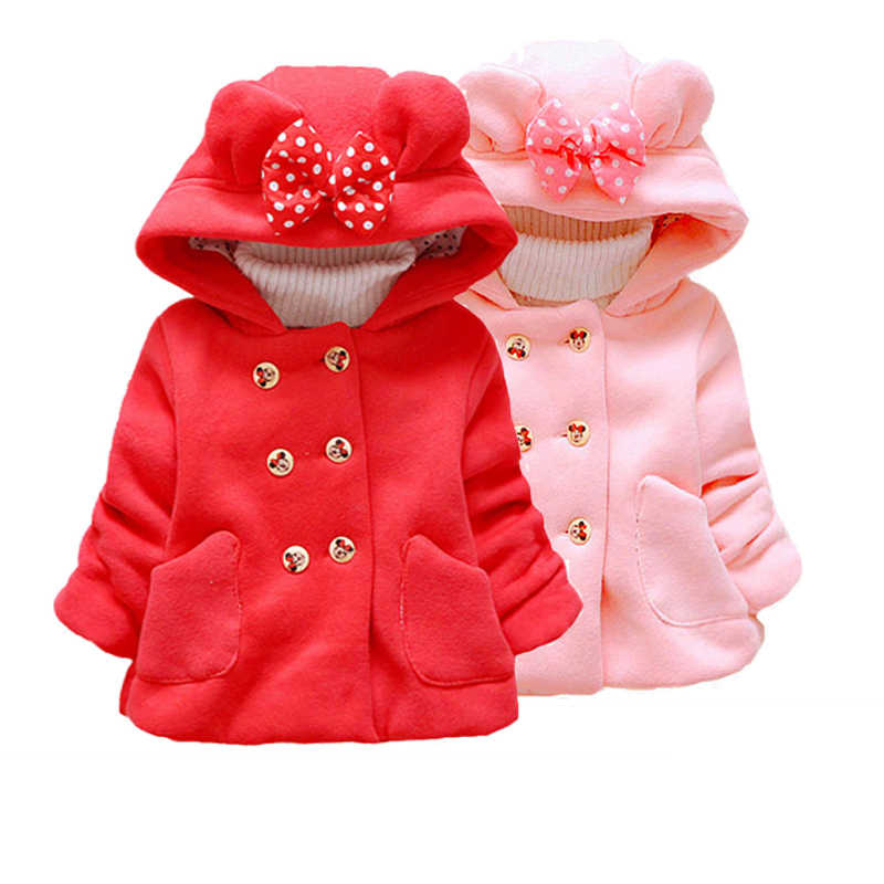 Baby Girls spring Wool Coat Fashion Long Sleeve Soild mini mouse costume breasted Outwear High Quality Long Mickey Coat 1 2 3 4