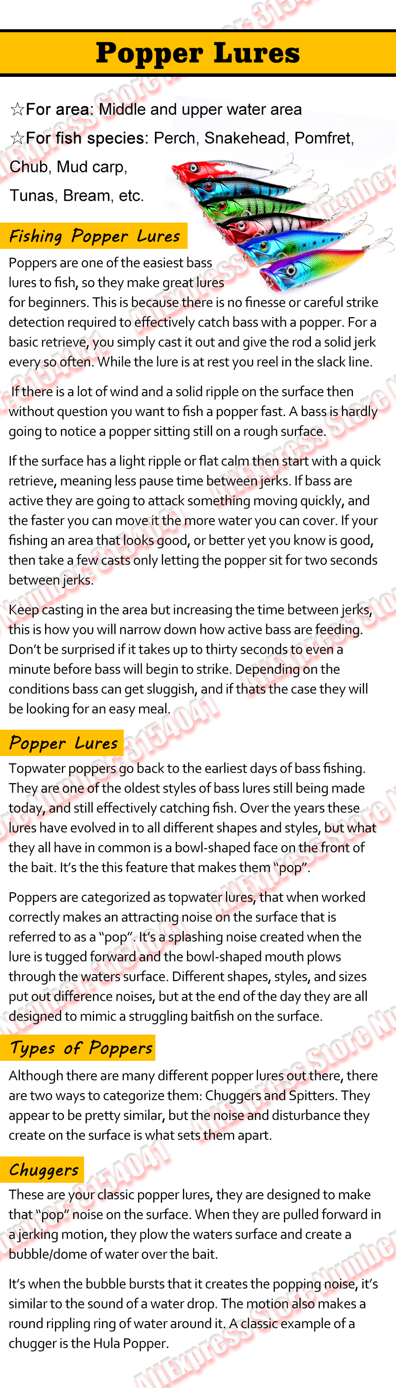 Popper lures