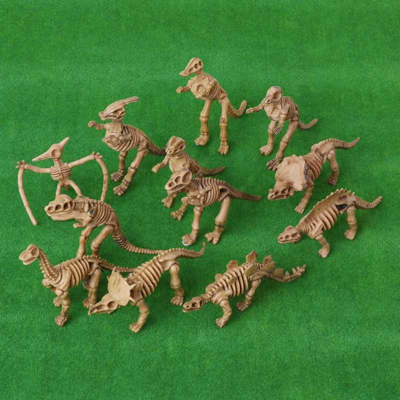 12pcs New Dinosaur Fossil Skeleton Building Kits Figures Model Education Toy