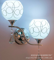 Chinese modern glass wall lamp, apply to hotels, guesthouses, homes bedroom, living room, hall