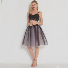 Mesh Pleated 7 Layers Dance Tulle Skirt Fashion Tutu Skirts Womens Petticoat Elastic Belt 2018 Lolita faldas saia jupe(China)