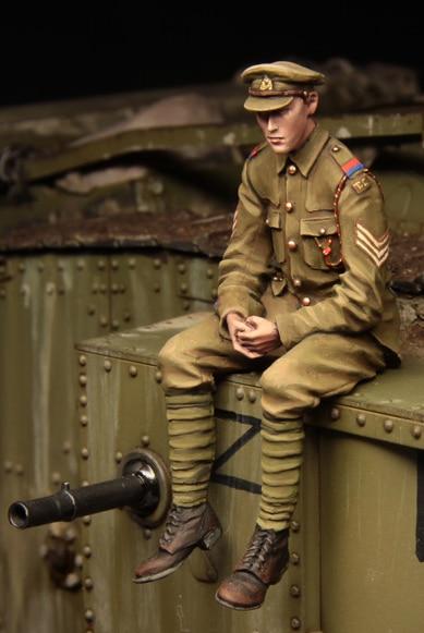 [tuskmodel] 1 35 scale resin model figures kit WW1 British