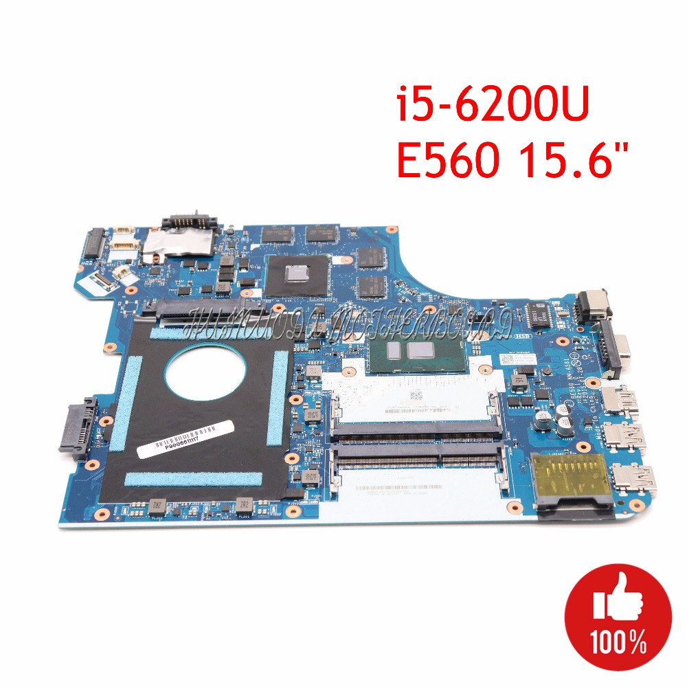 NOKOTION BE560 NM A561 laptop motherboard For for Lenovo ThinkPad E560 15.6 01AW106 Notebook i5 6200U Radeon R7 M370 Main board