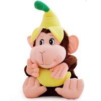 2019 60cm 23 Inches Cute Animal Monkey Love Banana Plush Toy Doll Stuffed Great Life Gift Worth