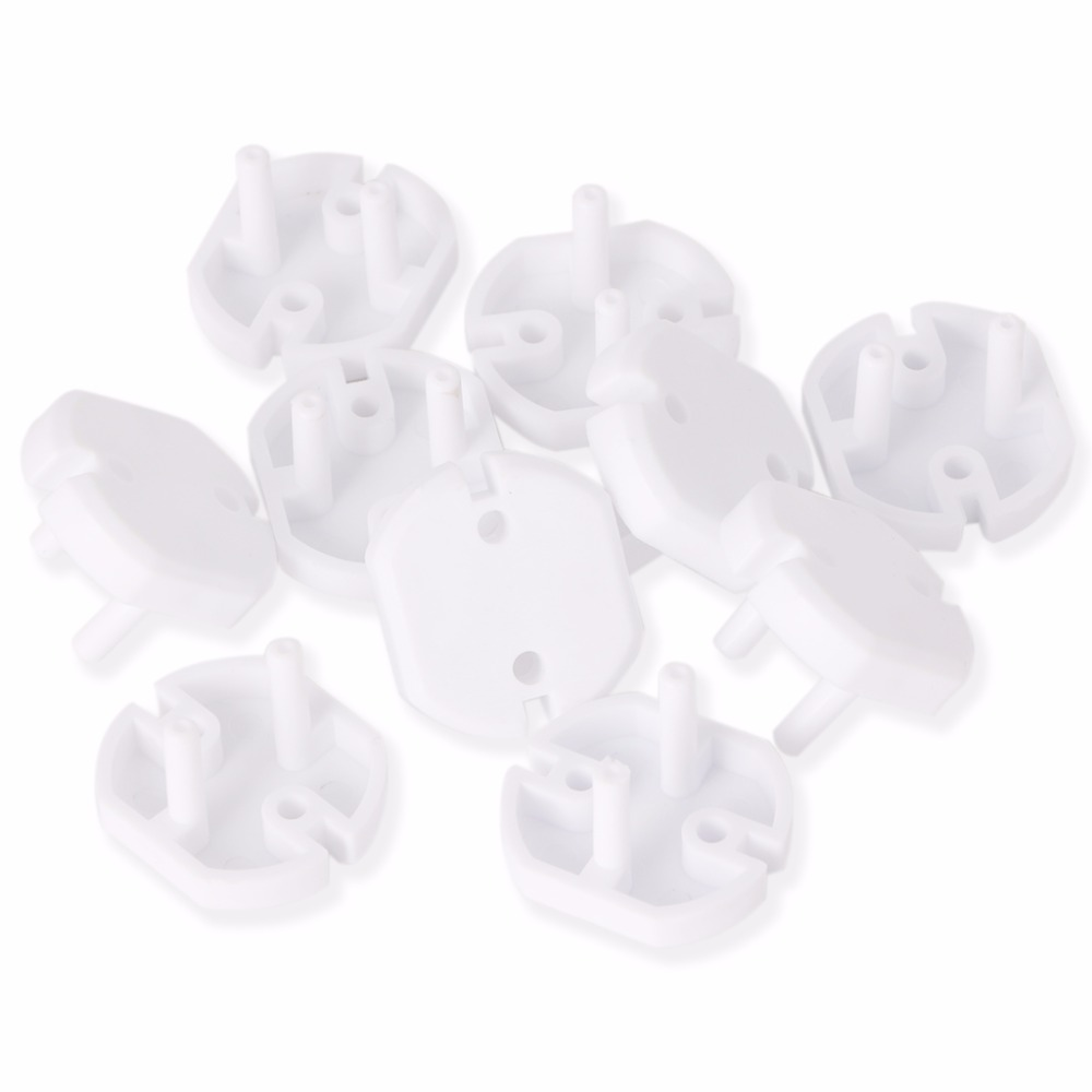 NEW 10pcs EU Power Socket Electrical Outlet Baby Children Safety Guard Protection