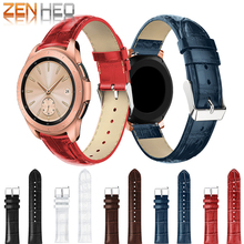 New Leather Watchband Crocodile Pattern Strap 20mm for Samsung Galaxy Watch 42mm Bands Replacement Bracelet Strap Band Women Men цена и фото